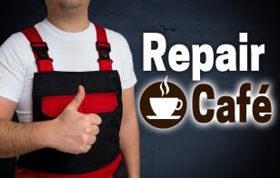 Repair Cafe wird von handwerker gezeigt konzept